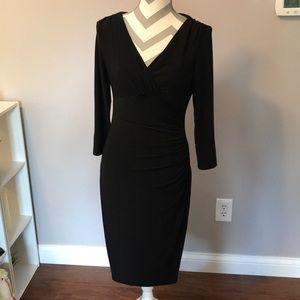 Ralph Lauren black wrap dress sz 8 long sleeve